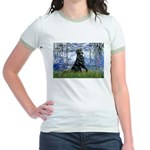 Lilies / Flat Coated Retrieve Jr. Ringer T-Shirt