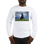 Lilies / Flat Coated Retrieve Long Sleeve T-Shirt