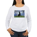 Lilies / Flat Coated Retrieve Women's Long Sleeve
