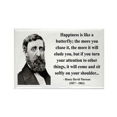 Henry David Thoreau 38 Rectangle Magnet (100 pack)