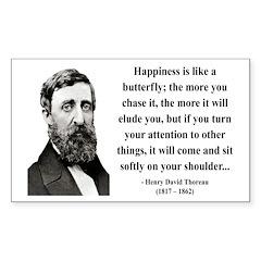 Henry David Thoreau 38 Rectangle Decal