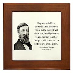 Henry David Thoreau 38 Framed Tile