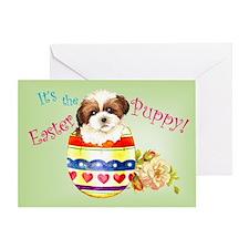 Easter Shih Tzu Greeting Card