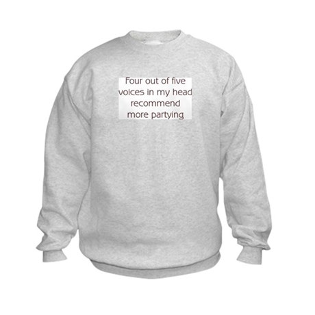Recommend More Partying Kids Sweatshirt