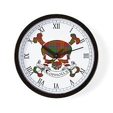 Connolly Tartan Skull Wall Clock