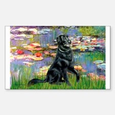 Lilies / Flat Coated Retrieve Decal