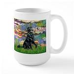 Lilies / Flat Coated Retrieve Large Mug