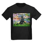 Lilies / Flat Coated Retrieve Kids Dark T-Shirt