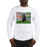 Lilies / Flat Coated Retrieve Long Sleeve T-Shirt