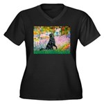 Flat Coated Retriever 2 Women's Plus Size V-Neck D