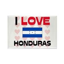 I Love Honduras Rectangle Magnet