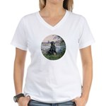 Flat Coated Retriever 2 Women's V-Neck T-Shirt