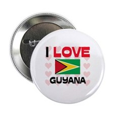 """I Love Guyana 2.25"""" Button"""