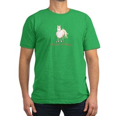 I Want a Pony Men's Fitted T-Shirt (dark)