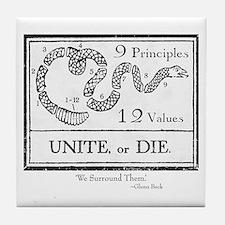 Unite, or Die Tile Coaster