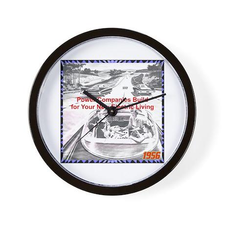 """1956 Futuristic Ad"" Wall Clock"