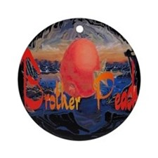 Brother Peach Ornament (Round)