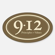 9-12 Principles-Values Oval Decal