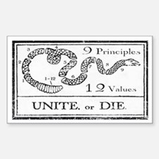 Unite or Die Rectangle Decal