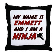 my name is emmett and i am a ninja Throw Pillow