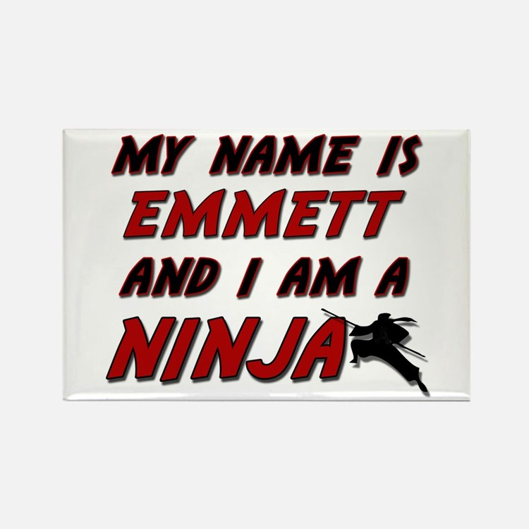 my name is emmett and i am a ninja Rectangle Magne