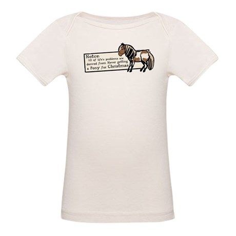 Never Got a Pony Organic Baby T-Shirt
