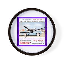 """1956 Rambler Ad"" Wall Clock"