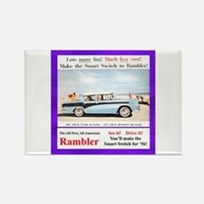 """1956 Rambler Ad"" Rectangle Magnet"