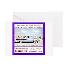 """1956 Rambler Ad"" Greeting Card"