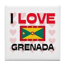 I Love Grenada Tile Coaster