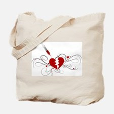 Injected Heart Tote Bag