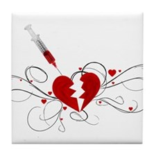 Injected Heart Tile Coaster