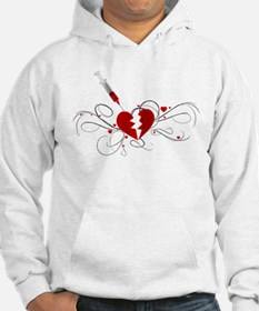 Injected Heart Jumper Hoody