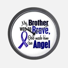 Angel 1 BROTHER Colon Cancer Wall Clock