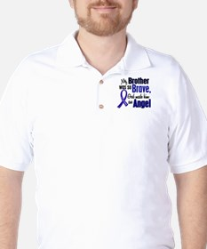 Angel 1 BROTHER Colon Cancer Golf Shirt