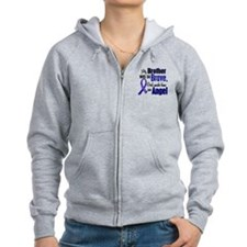 Angel 1 BROTHER Colon Cancer Zip Hoodie