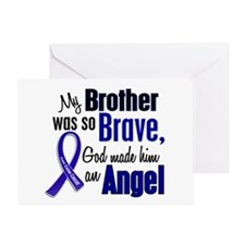 Angel 1 BROTHER Colon Cancer Greeting Card