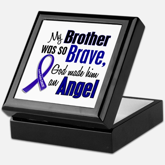 Angel 1 BROTHER Colon Cancer Keepsake Box