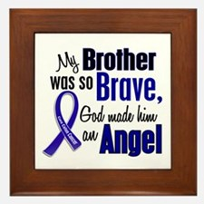 Angel 1 BROTHER Colon Cancer Framed Tile