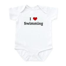 I Love Swimming Infant Bodysuit