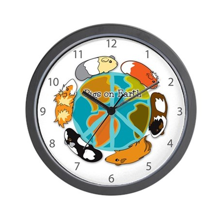 Pigs on Earth Wall Clock