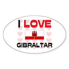 I Love Gibraltar Oval Decal