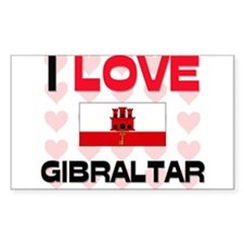 I Love Gibraltar Rectangle Decal
