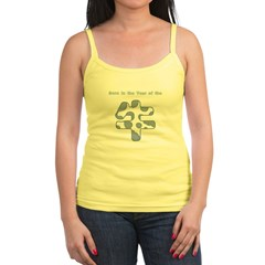 Born Year Ox Chinese Gray Jr. Spaghetti Tank