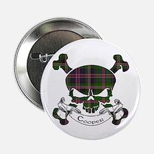 "Cooper Tartan Skull 2.25"" Button"