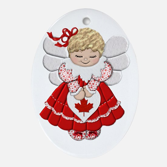 Canadian Angel Oval Ornament