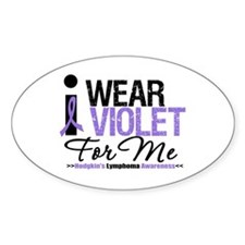 I Wear Violet For Me Oval Decal