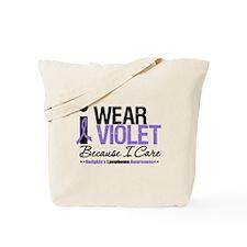 I Wear Violet Ribbon I Care Tote Bag