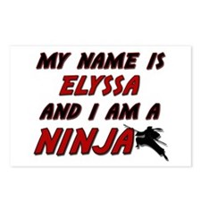 my name is elyssa and i am a ninja Postcards (Pack