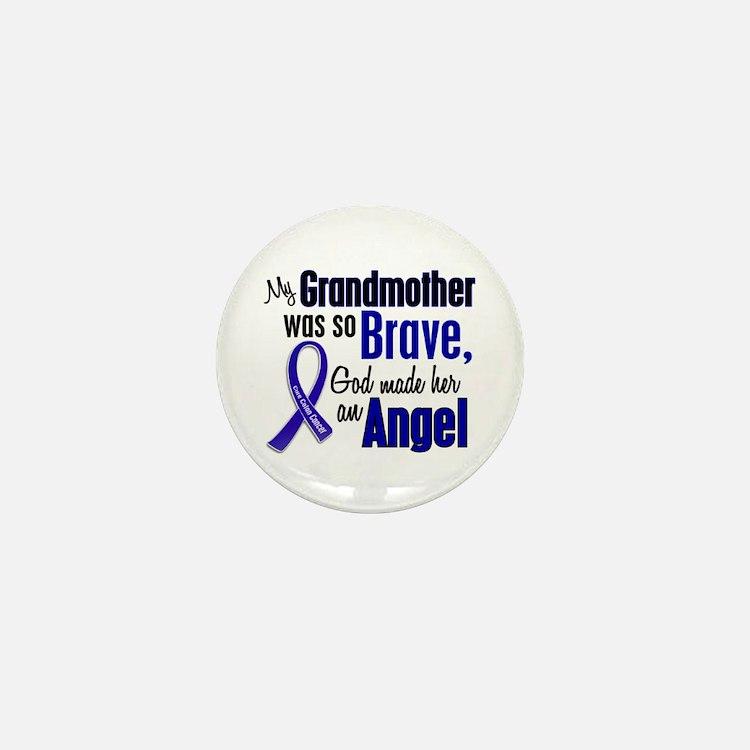 Angel 1 GRANDMOTHER Colon Cancer Mini Button